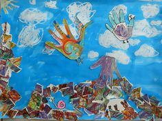 Dieren van je eigen hand 2 (ouder kind schilderij)