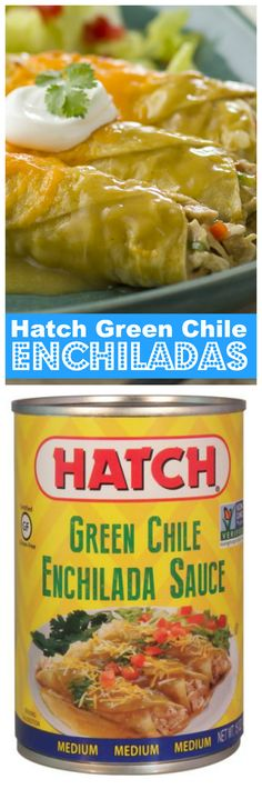 These delicious Gluten-Free Hatch Green Chile Enchiladas are amazing! You wont regret trying this recipe!   Get more Recipes at HatchChileCo.com | Hatch Chile Co.