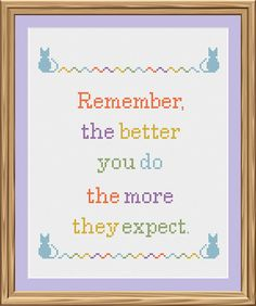 Expectations - funny cross-stitch PATTERN