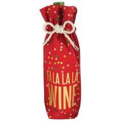 SET OF 2  GIFT BAGS  LARGE CHRISTMAS PUDDING /& WINE BAGS