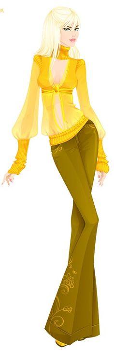 """Girl illustration / Illustrazione Ragazza - """"Tricky Vicky"""", Art by Svetlana Makarova"""