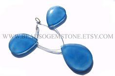 Natural Blue Chalcedony Focal Pear Pendant Smooth Beads #bluechalcedony #bluechalcedonybeads #bluechalcedonybead #bluechalcedonypear #pearbeads #beadswholesaler #semipreciousstone #gemstonebeads #beadsoemstone #beadwork #beadstore #bead