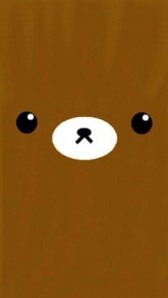 Kawaii Brown Cute Bear iPhone Wallpaper