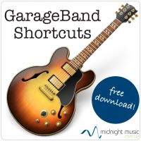 GarageBand Shortcuts – Free downloadable PDF from Midnight Music http://www.midnightmusic.com.au/2013/04/garageband-shortcuts-free-download/