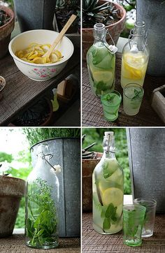 Homemade lemonade with mint leaves
