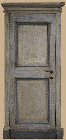 Reproductions of antique italian painted doors - Porte del Passato Cottage Doors Interior, Interior Door Colors, Painted Interior Doors, Painted Doors, Interior Paint, Italian Cottage, Italian Doors, Hacienda Style, Miniature Dolls