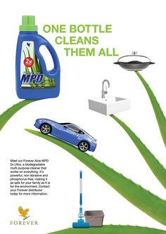 Leave a sparkling shine and pleasant scent to your floors and car. Your clothes will just love the MPD. Order yours at: www.foreverliving.com reff# 001002477858