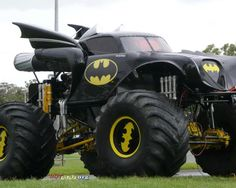 When the roads around Gotham became treacherous, the dynamic duo changed their tires. #monster #truck