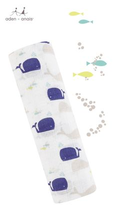 A mom (and baby) favorite! The magic of our classic cotton muslin paired with this nautical whale print make this swaddle perfect for any little one.
