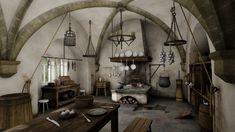 ArtStation Medieval kitchen Zdenek Elefant in 2020 Medieval Fantasy castle Medieval life