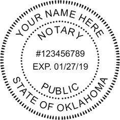 Oklahoma Notary rubber stamp custom design.