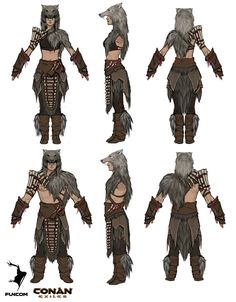 ArtStation – Conan Exiles: Savage Frontier armor concepts, Jenni Lambertsson – Art Drawing Tips Character Design Sketches, Character Design Cartoon, Fantasy Character Design, Character Concept, Character Inspiration, Character Art, Viking Character, Armor Concept, Concept Art