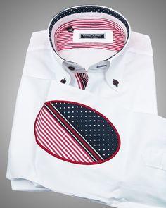 French shirts for men - Boston white 3