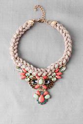 Belleville Art Deco Statement Necklace francesca's collections