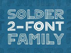 Solder 2-Font Family by Gerren Lamson