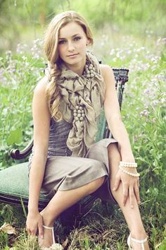 love her scarf and pose
