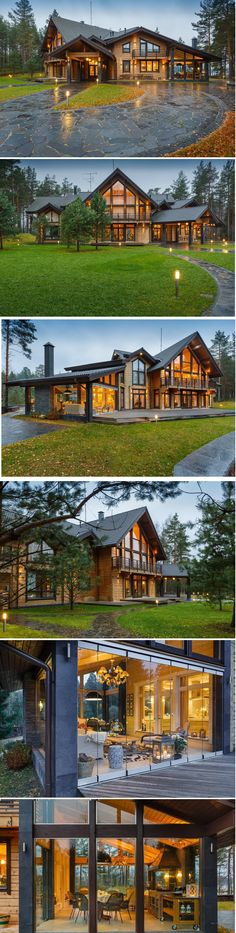 -House - The summer night is like a perfection of thought. Rustic Home Design, Dream Home Design, Modern House Design, My Dream Home, Dream House Exterior, Dream House Plans, Future House, My House, House Goals