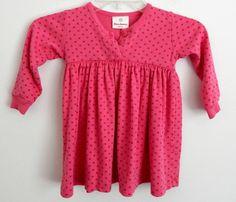 Hanna Andersson Girls Play/Day Dress Size 90 Pink Polka Dot Pretty Fun Cute EUC #HannaAndersson