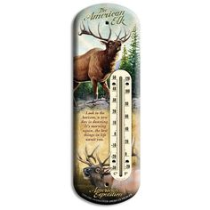 American Expedition Elk Tin Back Porch Thermometer >>> For more information, visit image link. (This is an affiliate link and I receive a commission for the sales)