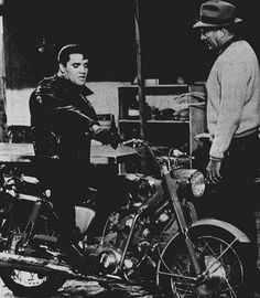 """""""Roustabout"""" The motorcycle Elvis Presley rides throughout the movie is a Honda 305 Superhawk."""