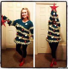 Disfraz pino navidad