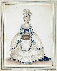 Fashion plate of 1781.