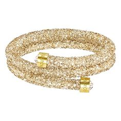 Swarovski Crystaldust Double Bangle Bracelet, Golden Crystal - Small * Be sure to check out this awesome product. (This is an affiliate link) Swarovski Crystaldust, Bracelet Swarovski, Swarovski Jewelry, Crystal Jewelry, Stone Jewelry, Gold Jewelry, Jewellery, The Bangles, Bangle Bracelets
