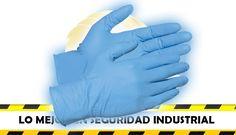 Guantes de nitrilo azul seseguridad industrial feryseg