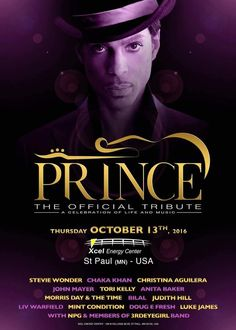 Prince Tribute Concert, October 13, 2016 The day after my birthday!!