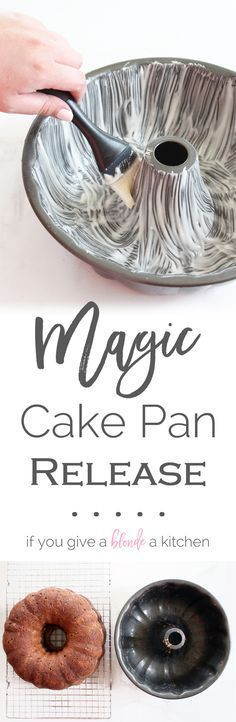 Never worry about broken cakes again. This magic cake pan release leaves no crumb behind and you can store it at room temperature for up to three months.   www.ifyougiveablondeakitchen.com