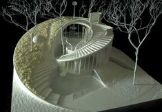 ushida findlay partnership House for the Third Millenium Conceptual Model Architecture, Dynamic Architecture, Folding Architecture, Pavilion Architecture, Concept Architecture, Futuristic Architecture, Sustainable Architecture, Beautiful Architecture, Architecture Design