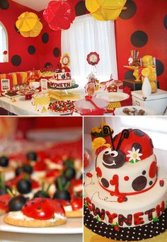 ladybug-birthday-party-dessert-table-1...love the lady bug