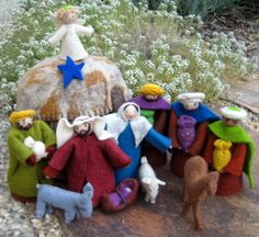 felt nativity set. It is always good to have one the kids can play with.