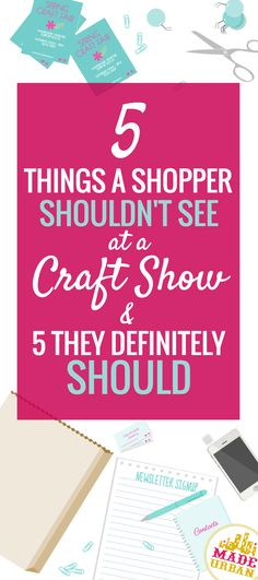 You definitely DON'T want shoppers at a craft fair to see this but you DO want them to see these 5 things.