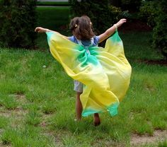 Hand dyed silk Butterfly Wings FREE by HeroesAndButterflies, $38.00