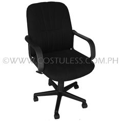 Product Code: MBC-145  Sale Price:	P2 999.00  Description:  Ergodynamic™ Mid Back Office Chair, Fabric Upholstery, 300mm Nylon Base & Nylon Casters, Tilt Lock Mechanism, Swivel Function, Pneumatic Height Adjustment  Product Measurement: 61L x 47W x 94-104Hcm Chair Capacity: 80kgs.  Classification: MEDIUM DUTY  Usage: OFFICE USE