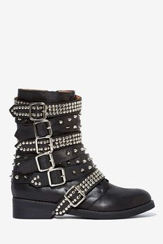 OBSESSED with these: Jeffrey Campbell Cruzados Leather Boot | Shop What's New at Nasty Gal