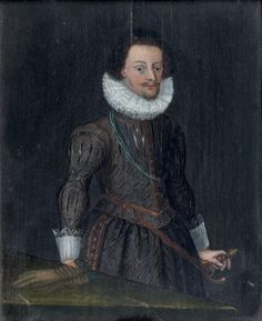 Portrait d'un officier contre une table, école flamande du 17e siècle