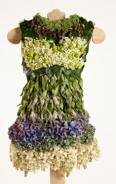 Artist Reinvents Chanel's Classic Dress in Leaves and Flowers : TreeHugger