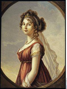 Louise, reine de Prusse, d'après Elisabeth Vigée Le Brun, par Marie Heuer, in 1802.