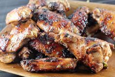 Grilled jerk chicken wings...I think I could eat the whole plate!