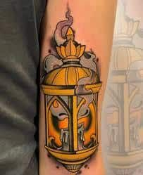 What does candle tattoo mean? We have candle tattoo ideas, designs, symbolism and we explain the meaning behind the tattoo. Top Tattoos, Great Tattoos, Unique Tattoos, Body Art Tattoos, Candle Tattoo, Lantern Tattoo, Best Tattoo Designs, Neo Traditional Tattoo, Tattoos With Meaning