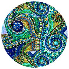 Blue & Green Swirl mosaic