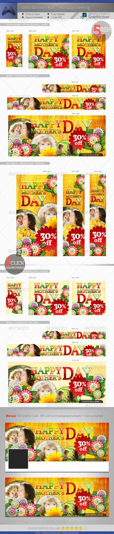 Corporate Web Banner - Holiday Greeting - Banners & Ads Web Elements