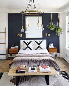Voting time! Let's start it off with this fun bedroom that belongs to @carlsonyoung Such a great mix of funky boho. Want to see how we'd recreate it? Vote now by liking this pic. The pic with the most likes wins!  by @jennapeffley for @mydomaine