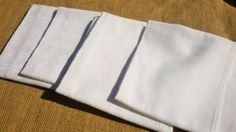 4 Antique French White Damask Napkins  by SophieLadyDeParis, $28.00