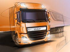 DAF Truck Design Sketch
