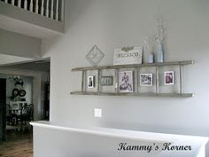 Thinking this might be a great way to display S's soccer and bowling trophies and ribbons