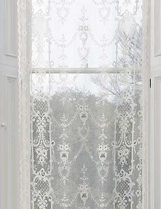 The Highland Rose patterned Cotton Lace Panel is straight out of Scottish design.  Starts at $61.95