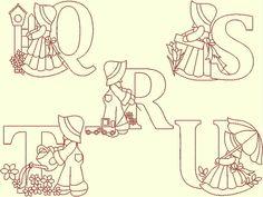 DESCARGA instantánea Sunbonnet Sue Sam Font por embroiderygirl